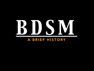 History of BDSM