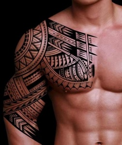 men tattoo polynesian