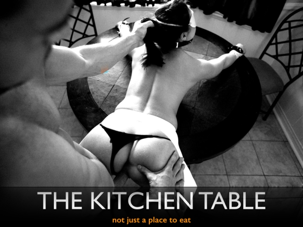 BDSM Poster Kitchen Table
